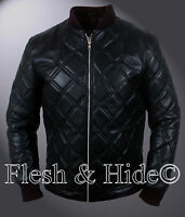David Beckham Black Quilted Details Bomber Jacket