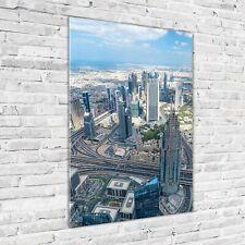 Wand-Bild Kunstdruck aus Acryl-Glas Hochformat 70x100 Wolkenkratzer