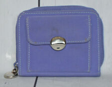 Nine West Womens Purple Zip Around Envelope With Coin Pocket Canvas Wallet