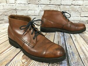 WALKOVER Brown Leather Chukka Ankle Boots Men's 9 M Made in USA