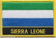 Sierra Leone Flag Embroidered Patch Badge - Sew or Iron on