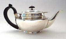 Silver Teapot Art Deco Industrial Bauhaus Sterling Silver Wellby London 1917