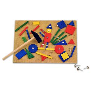 Hammerspiel Hammer Nagel Nagelspiel Kinder Holzspielzeug Hämmerchenspiel Kork