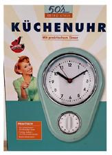 maxxcuisine 50s Retro Küchenuhr Timer rot Wanduhr Uhr Eieruhr Kurzzeitmesser