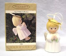 Vintage 1995 Joy Angel Bells Porcelain Collection Hallmark Keepsake Ornament NIB
