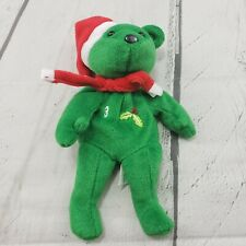 Alex Rodriguez #3 Salvinos Bamm Beano's Green Bear With Santa Hat Christmas Used