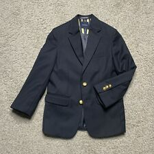 Nautica Youth Boys 8 Blue Blazer Sport Coat Jacket Single Breast Gold Buttons