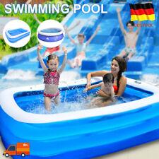 Fast Aufblasbar Swimming Pool Schwimmbad Gartenpool Framepool Schwimmbecken