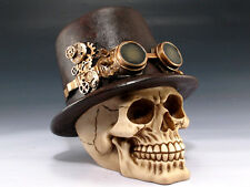 STEAMPUNK SKULL TOP HAT SKELETON FIGURINE STATUE HALLOWEEN