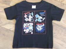 NEW LADYBIRD  100 % COTTON BLACK SHORT SLEEVED  CHARACTER T SHIRT AGE 7-8 YEARS