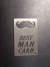 Best Man Card, Credit Card Sized Bottle Opener