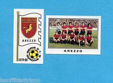 PANINI CALCIATORI 1979/80-Figurina n.519- AREZZO -SCUDETTO+SQUADRA-Rec