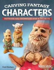 """Sculpture Fantasy Personnages ("""" sur Bois Illustrée """" Livre ) par Floyd Rhadigan"""