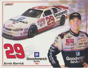 2001 Kevin Harvick Goodwrench Chevy Monte Carlo NASCAR Winston Cup postcard