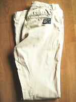 SUPERDRY MENS BEIGE SLIM STRAIGHT CHINO TROUSERS M WAIST 30 INCHES L 34 IN