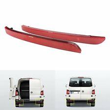 VW T5 Rear Bumper Reflector Red Cover Transporter Multivan Tail Reflectors L + R