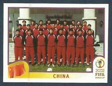 PANINI KOREA/JAPAN WORLD CUP 2002- #205-CHINA TEAM PHOTO-STANDING TO ATTENTION!