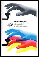 PUBB.1956 OLIVETTI STUDIO 44 PORTATILE MANI TASTIERA COLORI MACCHINA DA SCRIVERE
