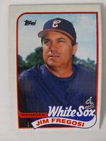 1989 Topps Jim Fregosi Chicago White Sox Wrong Back Error Baseball Card