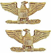 Tactical 365 Pair of Colonel Rank Insignia Pins | Gold, Nickel