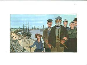 Fac-similé d'aquarelle de J. Bruneau Nantes du bon vieux temps planche no 1