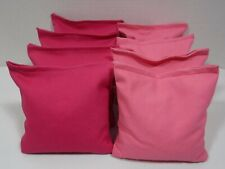 Set Of 8 Cornhole Bags / 4 Dark Pink Bags & 4 Light Pink Bags / Made To Aco Regs