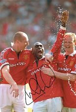 Andy COLE SIGNED Autograph Manchester United Photo AFTAL COA Premier League