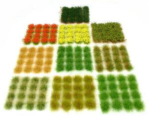 x160 Random mixed tufts pack - Self adhesive - static model grass scenery