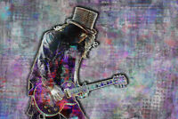 SLASH Poster, Slash of Guns N' Roses Tribute Art w/ Free Shipping US