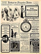 Andreas Huber München Pat. Universal-Taschenuhr Edison Phonograph Emporium..1902