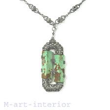THEODOR FAHRNER Silber Anhänger Collier Kette Silver Necklace ART DECO 20er 30er