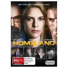 HOMELAND-Season 3-Region 4-New AND Sealed-4 Disc Set-TV Series