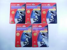 SanDisk Memory Stick PRO Duo 4GB Card - OEM Genuine LOT OF FIVE SDMSPD-4096-A11