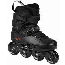 Powerslide Next Core Black 80mm Inline Skates Dual Mens Size 9.0/10.0 NEW