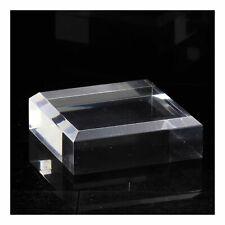 Socle présentoir acrylique angles biseautés pour minéraux 3 pcs. 40 x 40 x 20 mm
