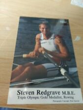STEVE  REDGRAVE  -  OLYMPIC  ROWER    - AUTOGRAPHED PHOTO
