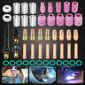 49Pcs TIG Welding Torch Stubby Gas Lens #10 Pyrex Glass Cup For WP-17/18/26 Kit