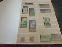 VARIOUS STAMP STOCK BOOK WITH OVER 600+ STAMPS VARIOUS COUNTRIES VGC