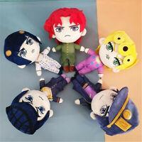 JoJo's Bizarre Adventure Golden Wind Plush Doll Bucciarati Kujo Jotaro Toy Set