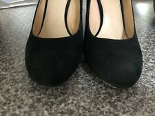 Wittner Black Suede Leather Wedge Shoes Size 38/7.5
