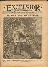 GUERRE 14/18 JOURNAL EXCELSIOR RE ITALIA PARIS TOLBIAC MASSIGES F. DECORI 1915