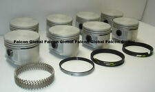 Chrysler/Dodge/Plymouth 383 Cast Flat Top Pistons + MOLY rings Set/8 1959-71 +30