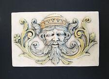King Greenman Gargoyle Floral Garden Arts & Crafts Gothic Ellison Tile