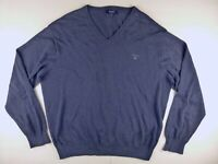 J418 GANT blue pure wool jumper sweater size XL, great condition!
