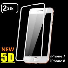 2x 5D Hartglas iPhone 7 iPhone 8  Schutzpanzer Glasfolie Schutzfolie 9H WEISS