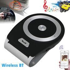 Wireless Bluetooth Handsfree Auto Car Speakerphone Kit Speaker Phone Visor Clip