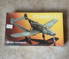 Heller Humbrol SAAB J-21A 1/72 Scale Model Airplane Kit - Never Opened