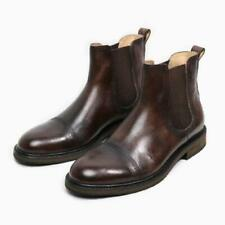 Mens Pull on Business Work Formal High Top Real Leather Chelsea Boots Shoes 44 L