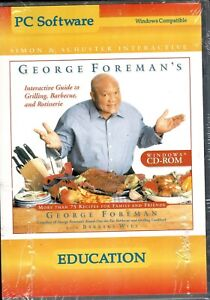 George Foreman's Interactive Guide To Grilling Barbecue and Rotisserie Pc New XP
