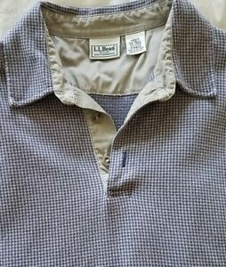 LL Bean Shirt Pullover Mens Large Tall Cotton Stretch Soft Long Sleeve Ex